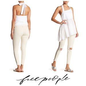 Free People High Rise Embellished Skinny Crop 👖